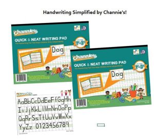 2 Pack Channie's Quick & Neat Blank Handwriting Practice Workbooks