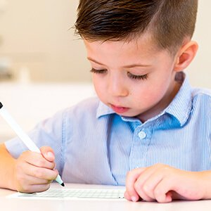 You provide the pencil and motivation and then watch them reproduce and improve their handwriting