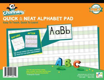 Quick & neat alphabet pad