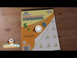 M301 One Page a Day Single digit Math_cover photo with play button