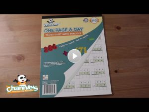 M801 One Page a Day triple digit Math_Cover Poster with play button