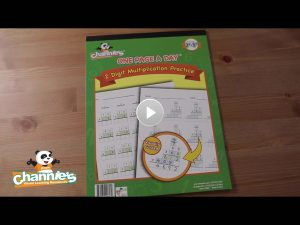 M804 One Page a page double digit multiplication_Cover Poster with play button